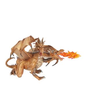 Papo Fantasy World: Two Headed Dragon - Gold