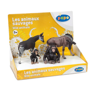 Papo Wild Animal Kingdom: Display Box Wild Animals 1 (4 Figurines)