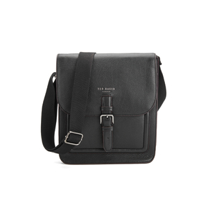 Ted Baker Men's Raised Edge Leather Flight Bag - Black