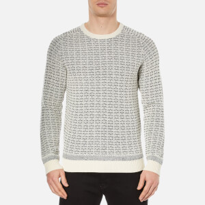 Selected Homme Men's Pattern Crew Neck Sweatshirt - Papyrus