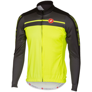 Castelli Velocissimo Long Sleeve Jersey - Yellow Fluro/Black