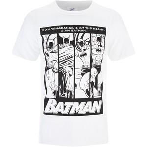 DC Comics Men's Batman I am Batman T-Shirt - Black