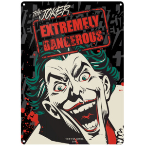 DC Comics Batman Joker Small Tin Sign 29cm x 42cm