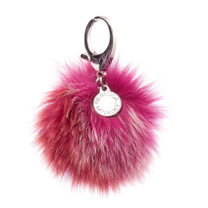 Rebecca Minkoff Women's Multi Fur Pom Pom Keyring - Red Multi