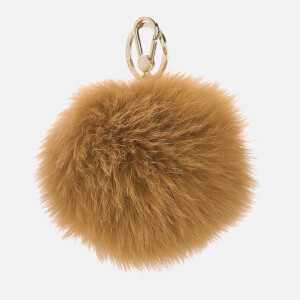Furla Women's Bubble Fur Pom Pom Keyring - Zafferano