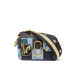 Marc Jacobs Women's Denim Snapshot Micro Cross Body Bag - Denim Multi