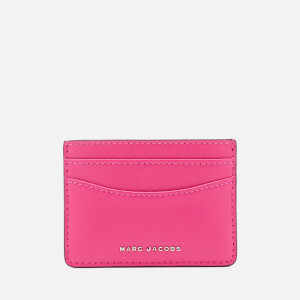 Marc Jacobs Women's Saffiano Bicolour Leather Card Case - Magenta/Pink