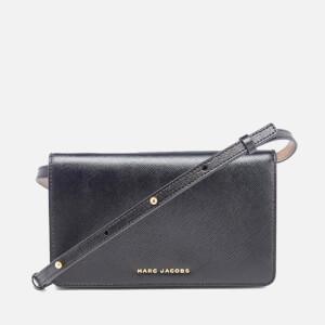 Marc Jacobs Women's Saffiano Leather Shoulder Strap Purse - Black