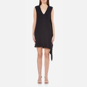 Helmut Lang Women's Side Drape V Neck Dress - Navy