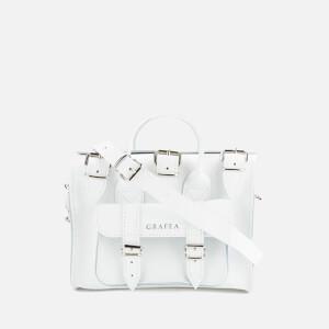 Grafea Women's Baby Luna Leather Shoulder Bag - White