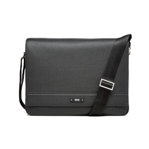 BOSS Hugo Boss Men's Traveller Mess Flap Messenger Bag - Black
