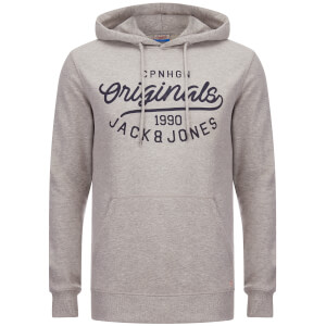 Jack & Jones Originals Men's Finish Hoody - Light Grey Melange