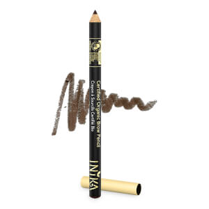 INIKA Certified Organic Brow Pencil -kulmakynä, Dark Brunette