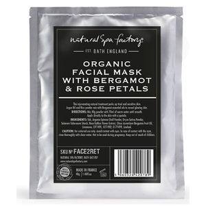 Natural Spa Factory Organic Face Mask with Bergamot, Argan and Rose Petals