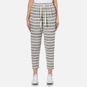MINKPINK Women's Marle Stripe Dropcrotch Joggers - Black/White
