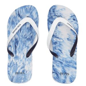 BOSS Orange Men's Loy Flip Flops - Open Blue