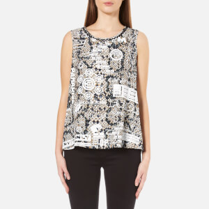 KENZO Women's Snake Flyer Viscose Crepe Top - Beige