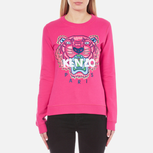 KENZO Women's Embroidered Tiger Sweatshirt - Deep Fuchia