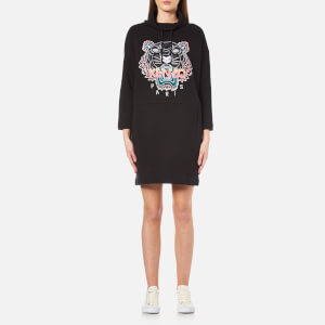 KENZO Women's Embroidered Tiger Cowl Neck Dress - Black