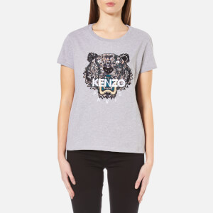 KENZO Women's Snake X Tiger Embroidery T-Shirt - Grey