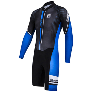 Santini Dirt Shell Aquazero Cyclocross Fleece Body Suit - Black/Blue