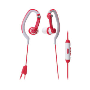 Audio-Technica Sports Hook Earphones with Mic - Red