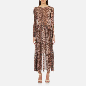 Ganni Women's Olivet Mesh Leopard Dress - Leopard