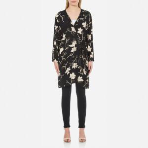 Ganni Women's Rosemont Crepe Floral Kimono - Black Wild Rose
