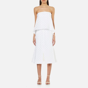 C/MEO COLLECTIVE Women's Faded Light Strapless Midi Dress - Ivory