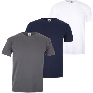 Varsity Team Players Men's T-Shirt 3 Pack - Navy/White/Charcoal