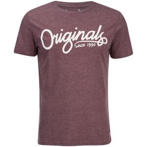 T-Shirt Jack & Jones Homme Originals Atom -Bordeaux