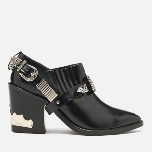Toga Pulla Women's Leather Heeled Shoe Boots - Black