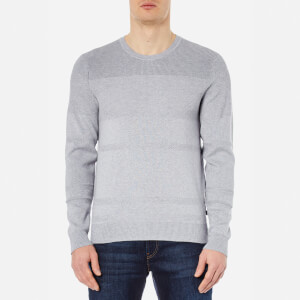 Michael Kors Men's Honeycomb Stripe Crew Neck Sweatshirt - Heather Grey