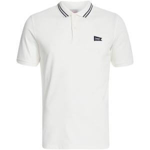 Jack & Jones Men's Originals Dept Tipped Polo Shirt - White