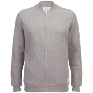 Jack & Jones Men's Core Pete Jersey Bomber Jacket - Light Grey Marl