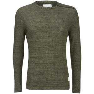 Jack & Jones Core Men's Octavio Textured Jumper - Deep Green
