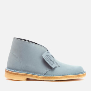 Clarks Originals Women's Desert Boots - Grey/Blue Suede