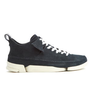 Clarks Originals Men's Trigenic Flex Shoes - Dark Blue Suede