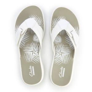 Clarks Women's Brinkley Calm Toe Post Sandals - White Combi