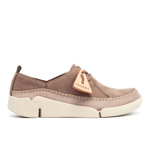 Clarks Women's Tri Angel Nubuck Trainers - Taupe