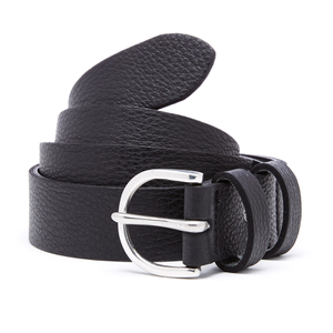Paul Smith Men's PS Leather Double Keeper Belt - Black