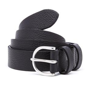 Paul Smith Men's PS Leather Double Keeper Belt - Black