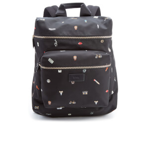 Paul Smith Men's Cufflink Print Nylon Rucksack - Black
