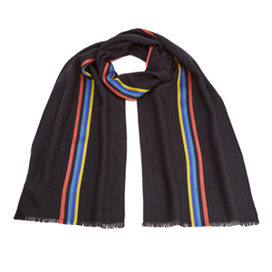 Paul Smith Men's Central Stripe Wool Scarf - Navy
