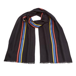 Paul Smith Men's Central Stripe Wool Scarf - Navy