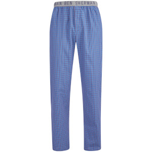 Ben Sherman Men's Check Bart Lounge Pants - Navy/Grey