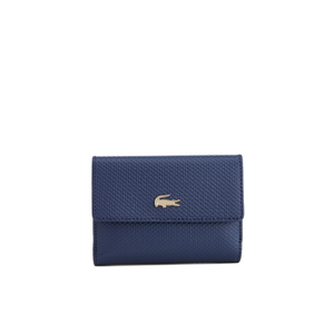 Lacoste Women's Medium Double Purse - Navy