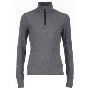 Superdry Women's Gym Half Zip Track Top - Charcoal Grit