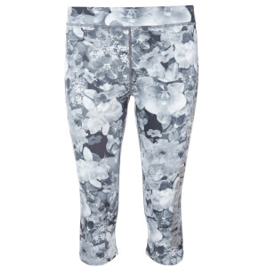 Superdry Women's Superdry Gym Logo Capri - Mono Tropical Crystal