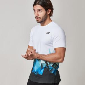 Camiseta con Estampado Geométrico para Hombres de Myprotein – Azul